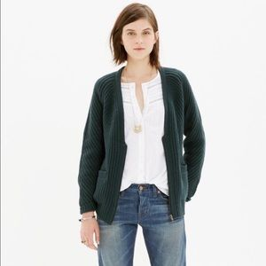 Madewell Zip Cardigan with Pockets